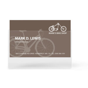 3L Self-adhesive Business Card Pockets, Long Side Opening